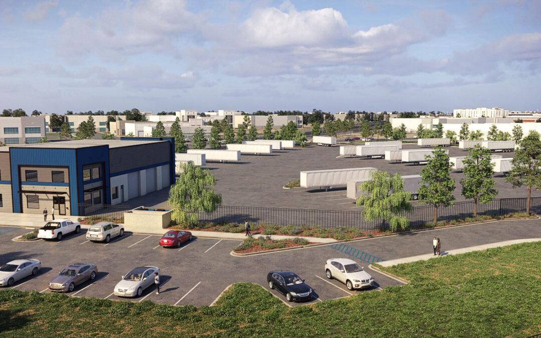 8.18 Acres (SWC Mill St & Waterman Ave, San Bernardino) Secure Trailer Yard, 191 Trailer Positions w/Maintenance Shop & Office